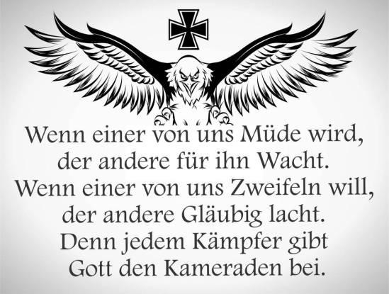 Sprüche Gott den Kameraden deutsche patrioten