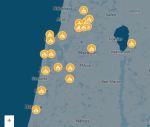Brände im Norden - Haifa, Natzeret, Akko, Hadera, oberes Galiläa. Quelle: Mako