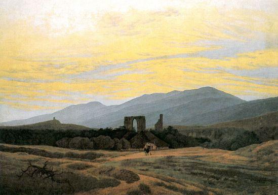 klosterruine-Eldena-und-Riesengebirge-C-D-Friedrich